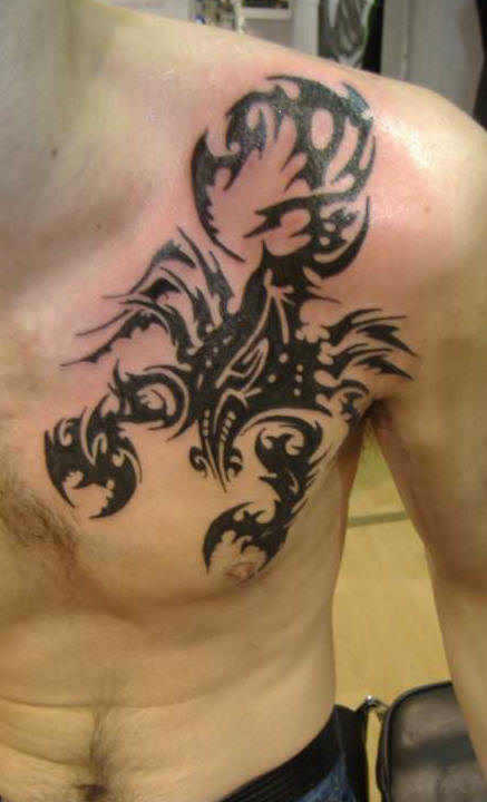 Scorpion Tribal Tattoos-3