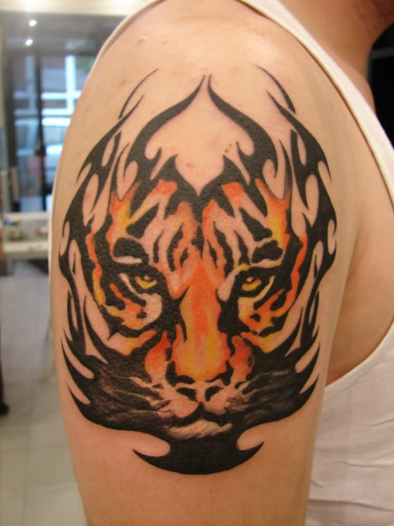 Scorpion king tattoo design - Tiger Tribal Tattoos 3