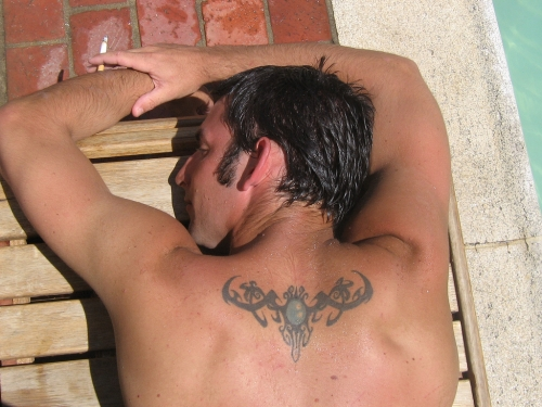 Upper Back Tribal Tattoo Designs-1