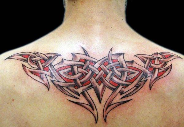 Upper Back Tattoo Tribal