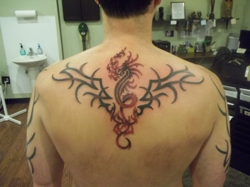 Upper Back Tribal Tattoo Designs-2