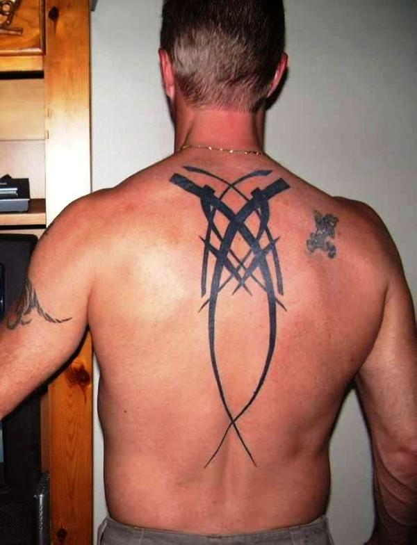 Upper Back Tribal Tattoo Designs-7