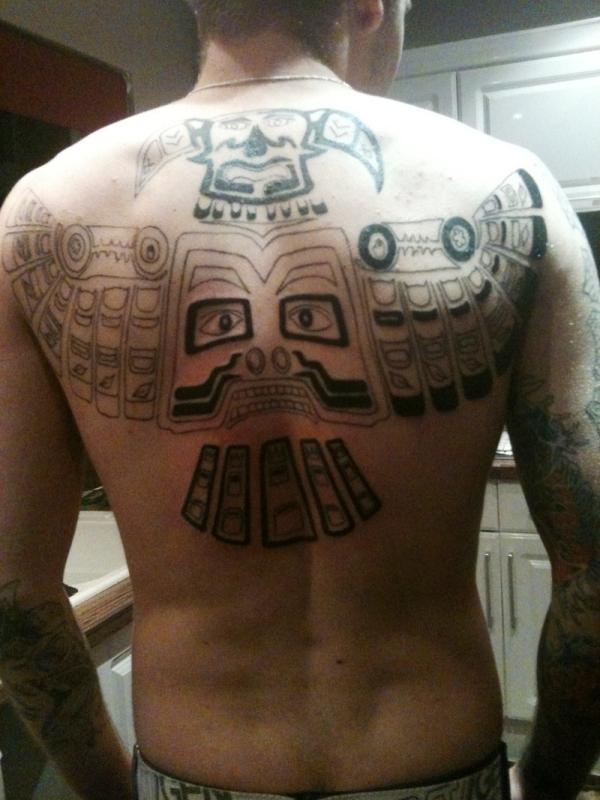 Upper Back Tribal Tattoo Designs-9