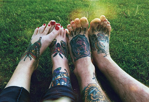 100 gorgeous foot tattoo design you must see for Ankle tattoos on men