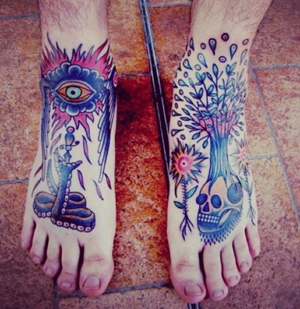 foot tattoo design (38)