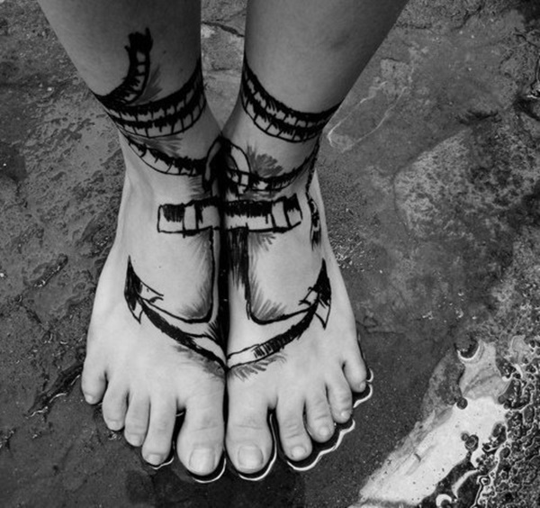 foot tattoo design (93)