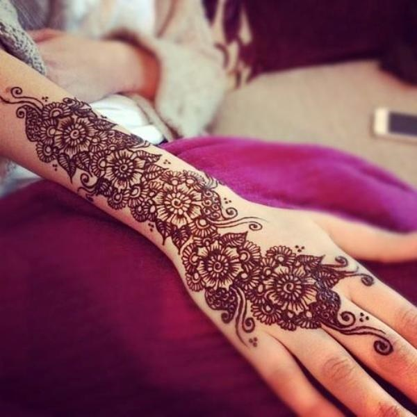 Henna Designs For Inner Arm: 100 Striking Henna Tattoos Design For Girls