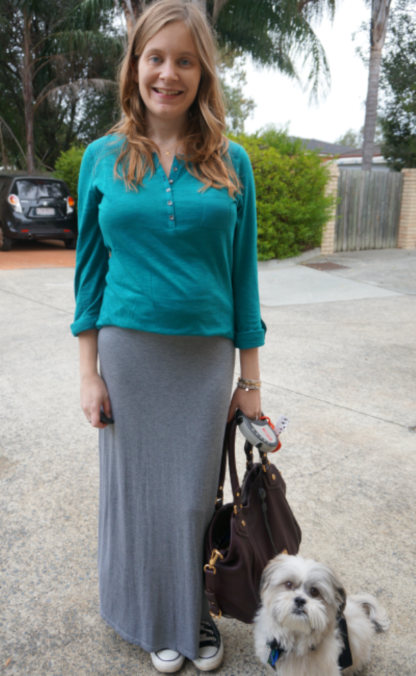 grey skirt outfit (1)