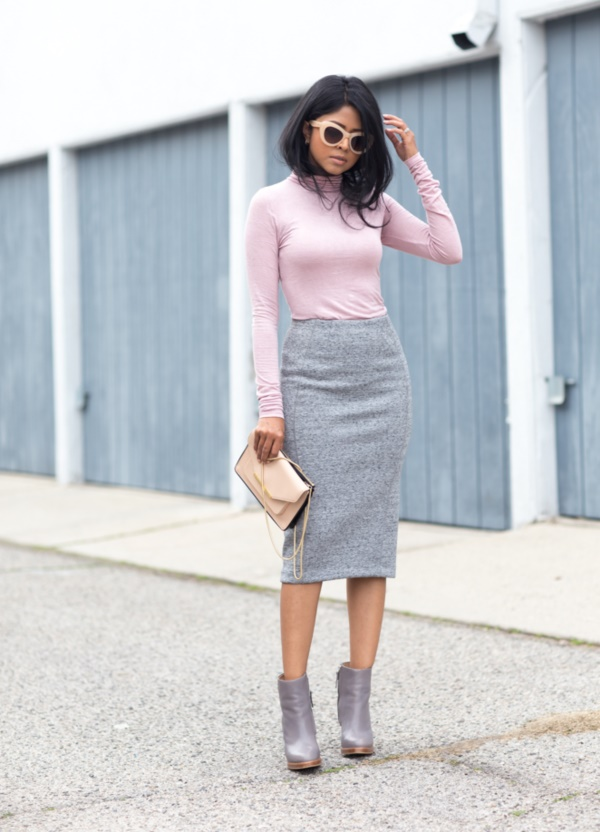 grey skirt outfit (40) - 99 Reasons Why You Really NEED A GREY SKIRT