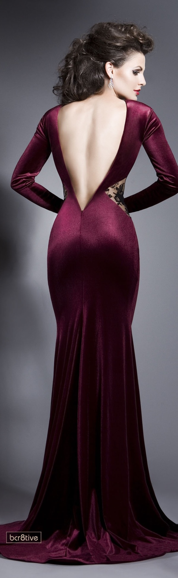 Purple Backless Dresses