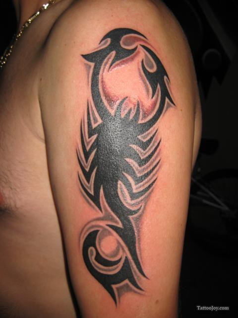 Scorpion Tribal Tattoos-5