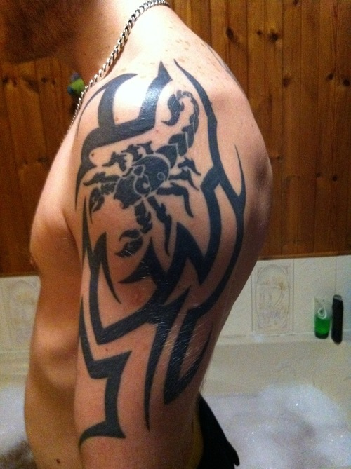Scorpion Tribal Tattoos-7