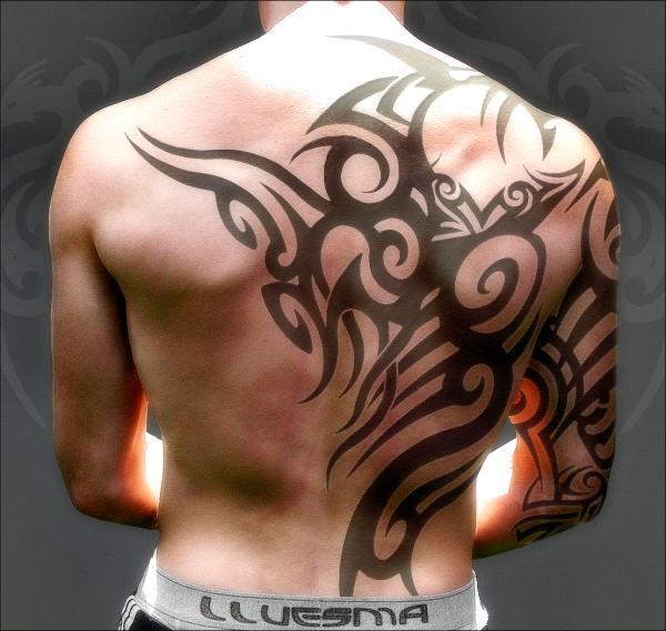 Upper Back Tribal Tattoo Designs-4