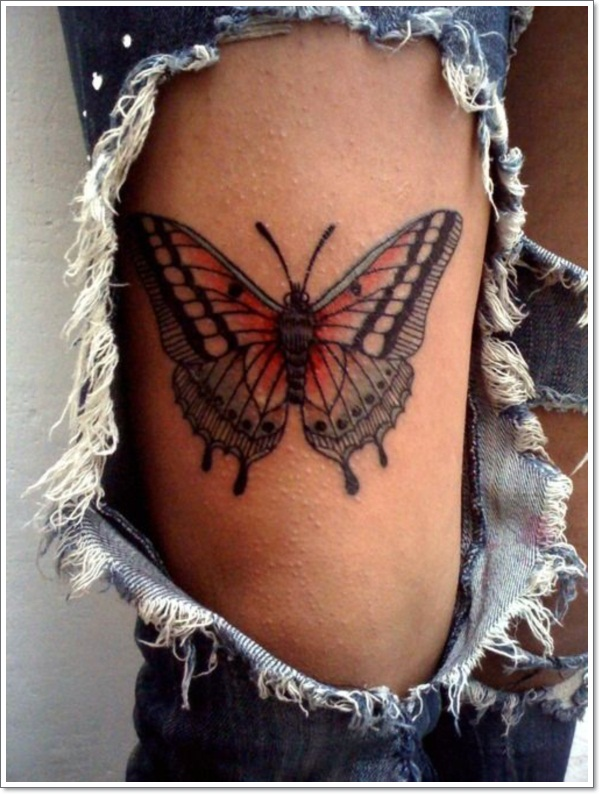 Asian butterfly tattoos