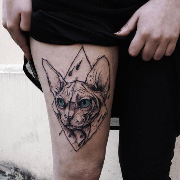cat tattoo designs (86)