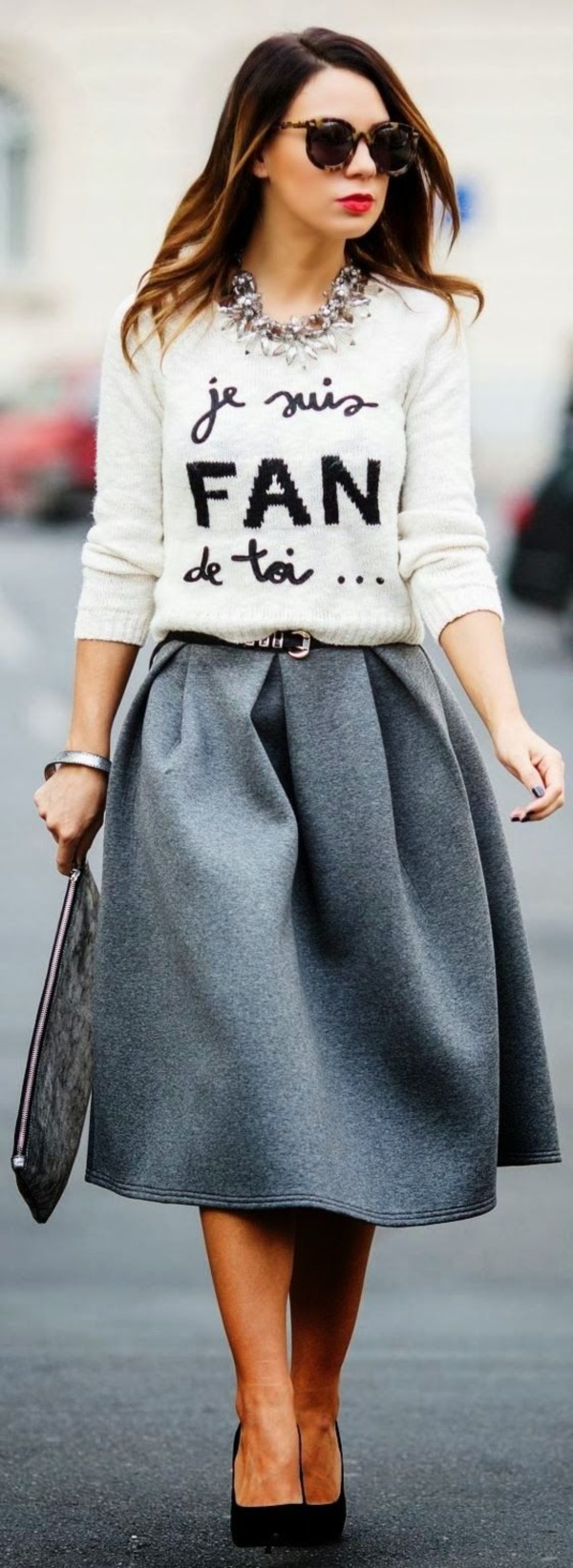 grey skirt outfit (4)
