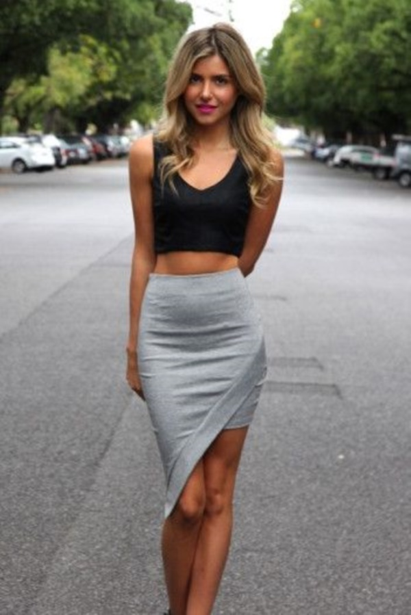 grey skirt outfit (5)