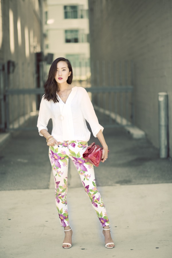 black floral pants outfits (10)