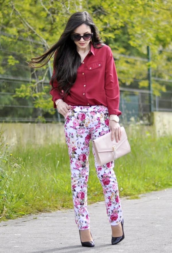 black floral pants outfits (11)