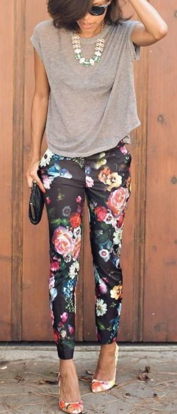 black floral pants outfits (20)