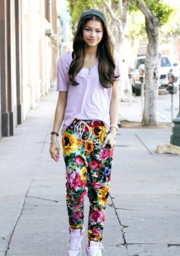 black floral pants outfits (22)
