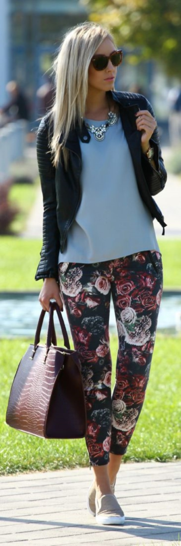black floral pants outfits (29)