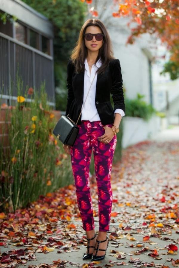 black floral pants outfits (3)
