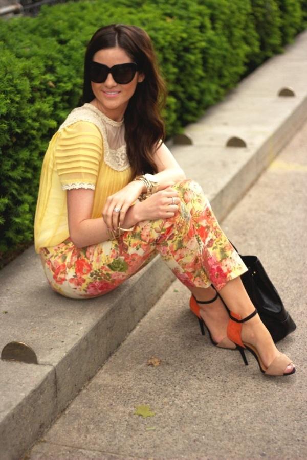 black floral pants outfits (30)