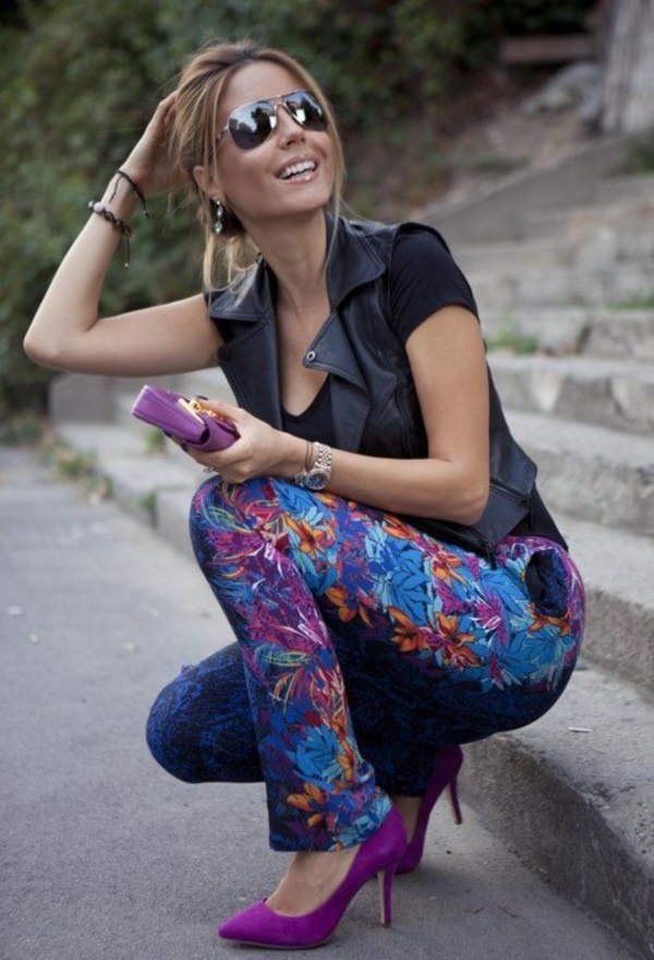 black floral pants outfits (34)