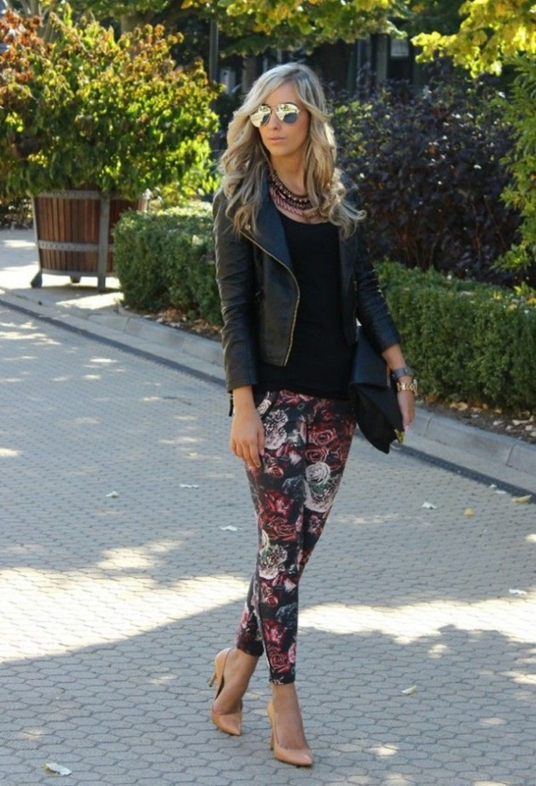 black floral pants outfits (45)