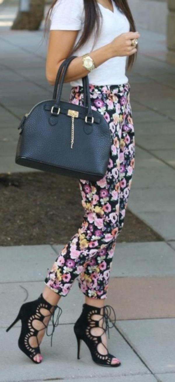black floral pants outfits (48)