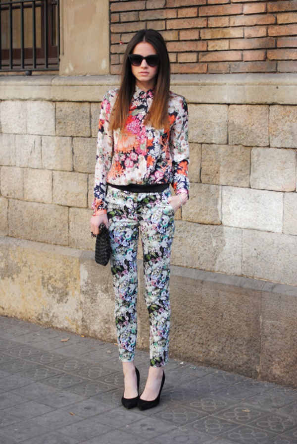 black floral pants outfits (5)