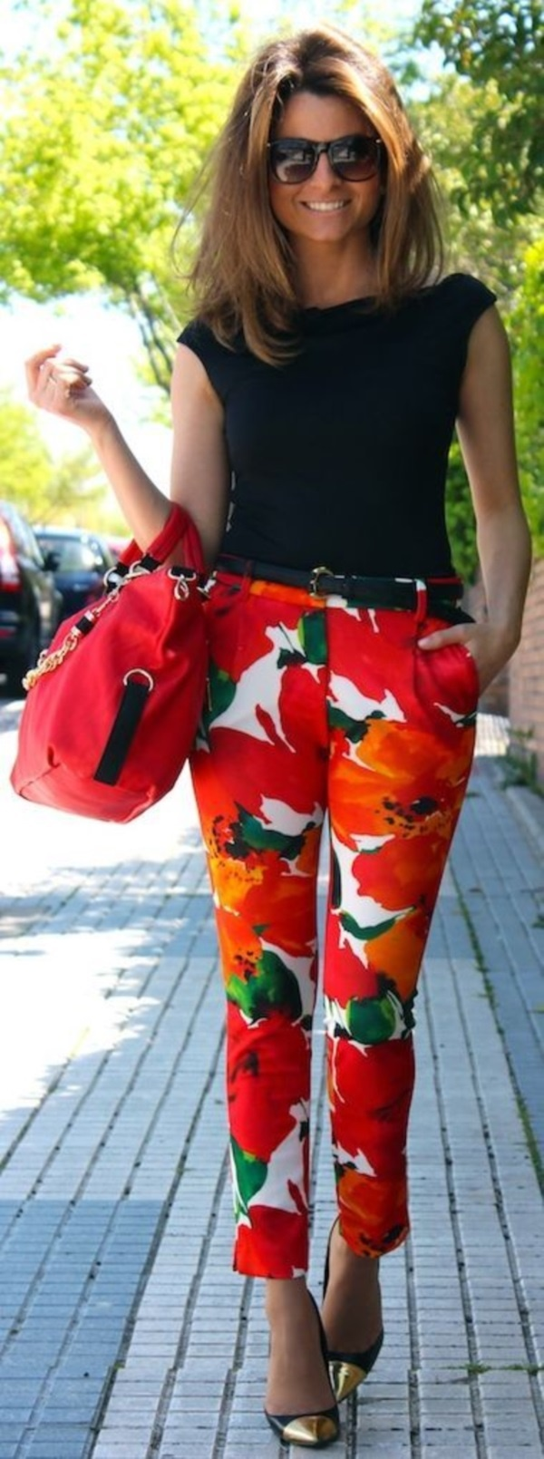 black floral pants outfits (59)