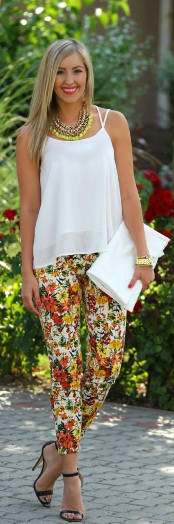 black floral pants outfits (61)