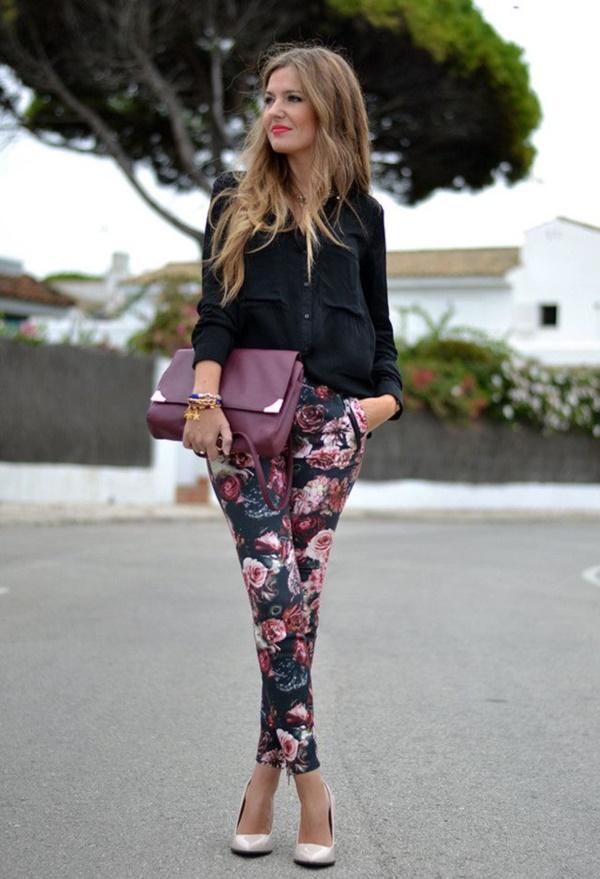 black floral pants outfits (78)