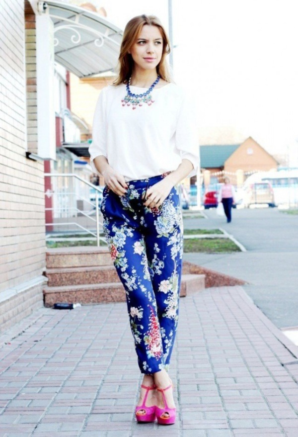 black floral pants outfits (8)