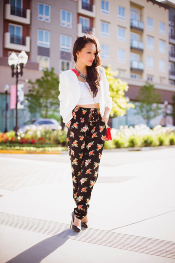 black floral pants outfits (9)