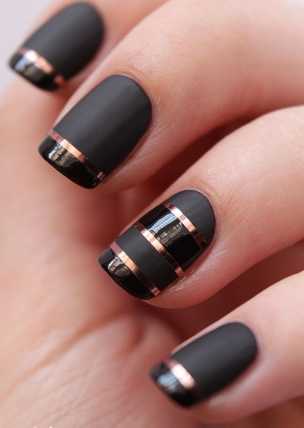 black nail arts (10)