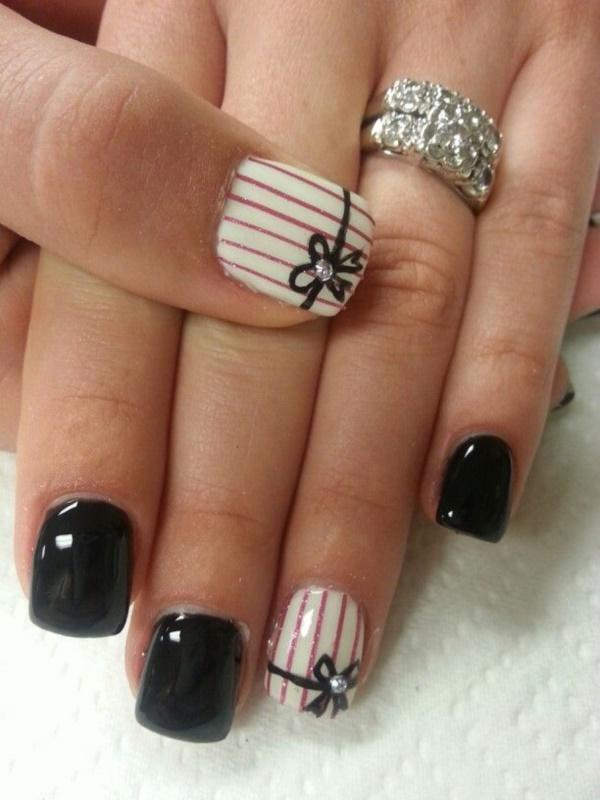 black nail arts (100)