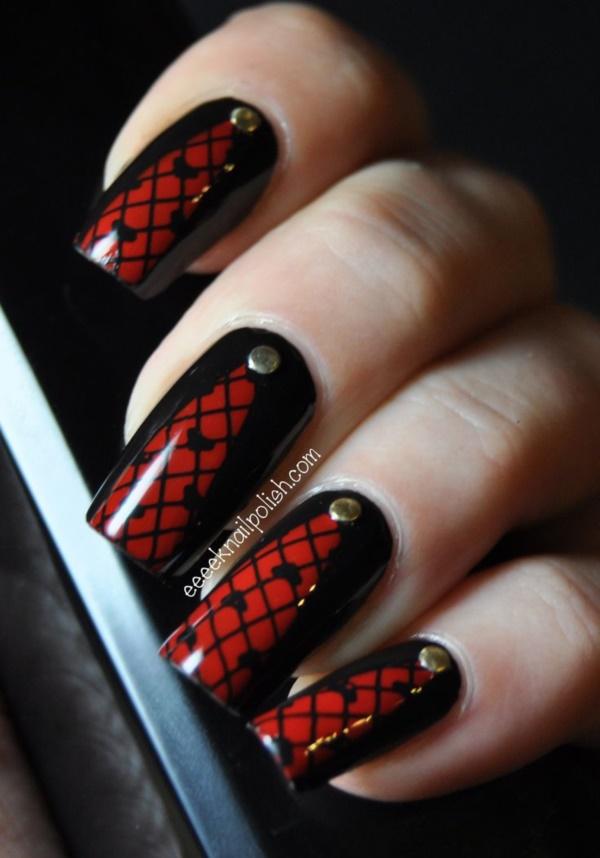 black nail arts (101)
