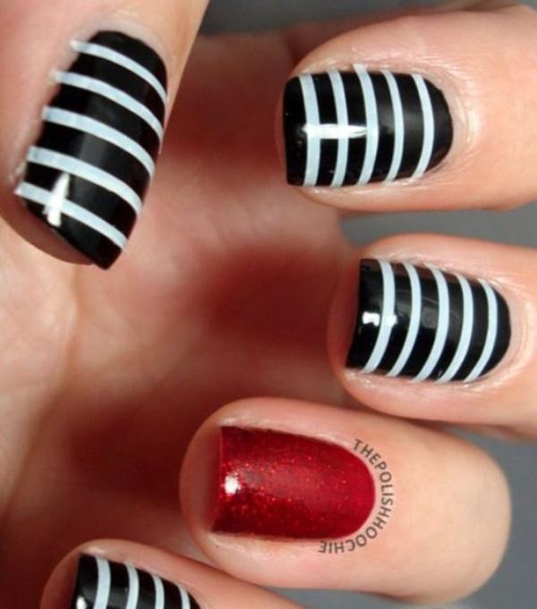 black nail arts (102)