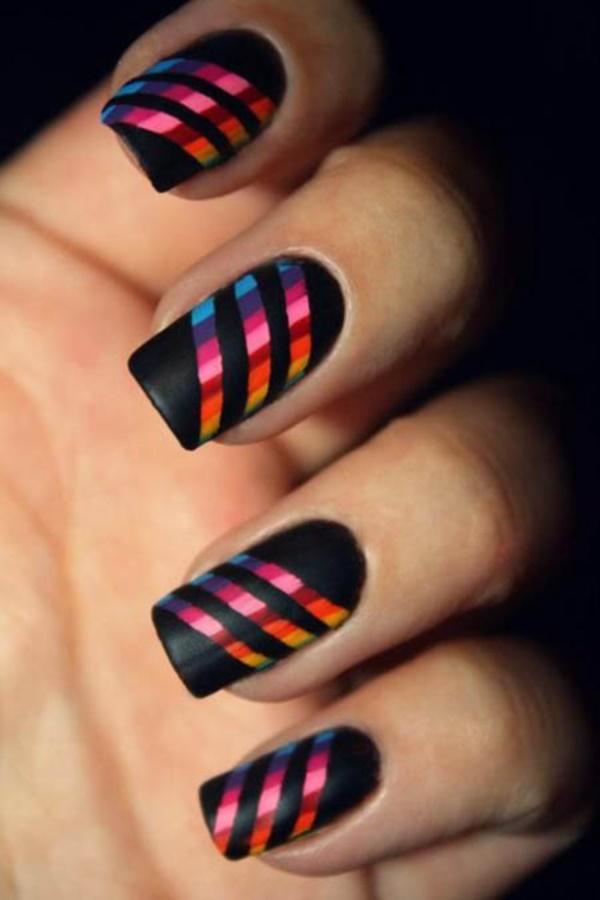black nail arts (19)