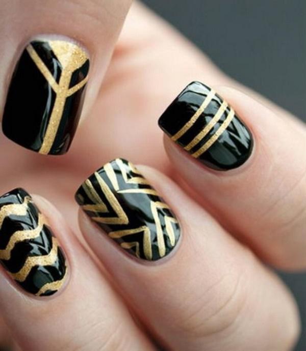 black nail arts (20)
