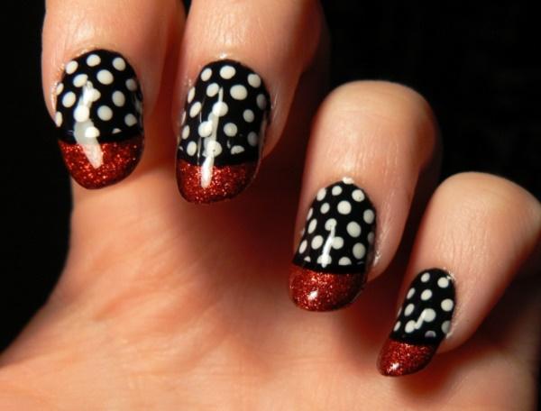 black nail arts (23)