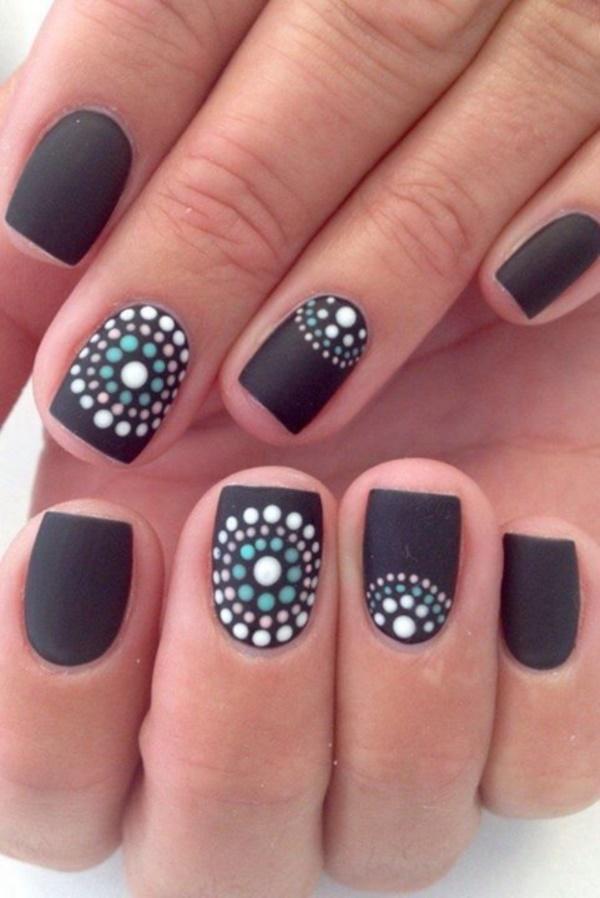 black nail arts (26)