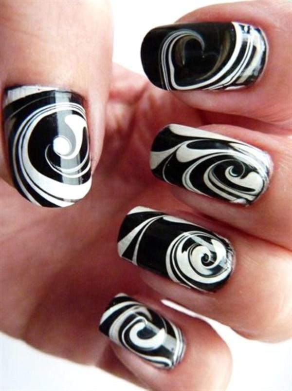 black nail arts (29)