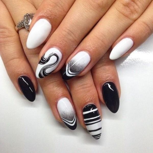 black nail arts (33)