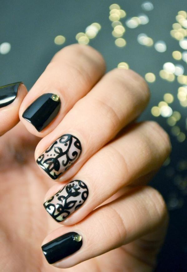 black nail arts (38)