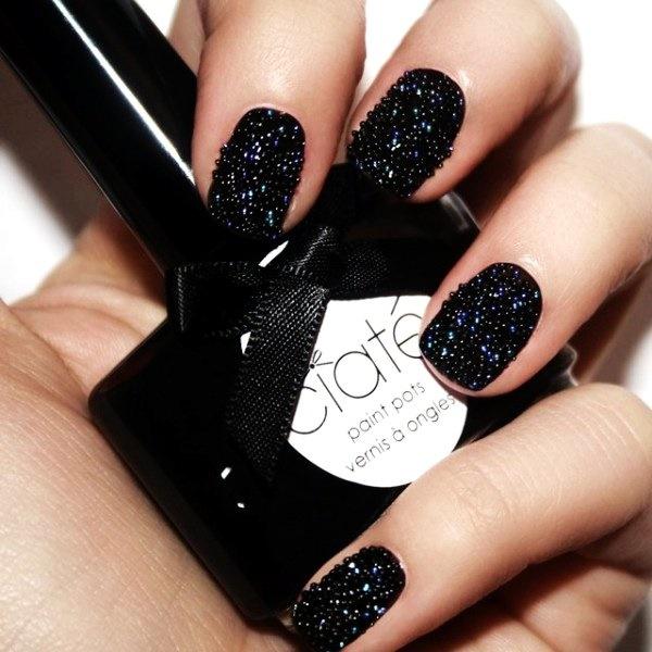 black nail arts 44 - Black Christmas Nails