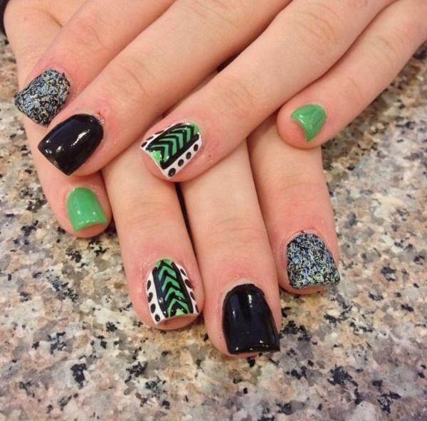 black nail arts (53)
